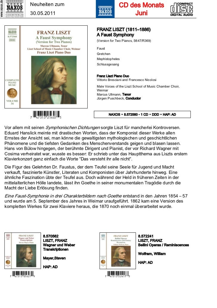 Neuheiten zum                                 CD des Monats                30.05.2011                                     ...