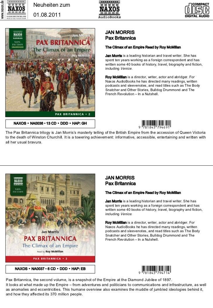Neuheiten zum                01.08.2011                                                           JAN MORRIS              ...