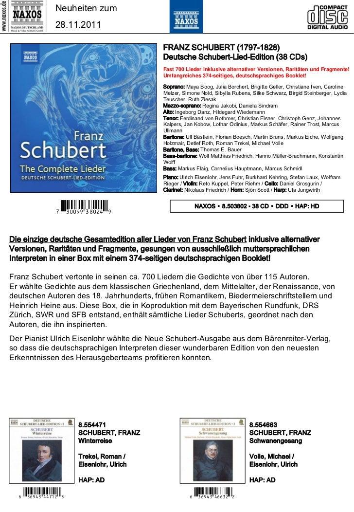 NAXOS Deutschland CD-Neuheiten Dezember 2011 Slide 2