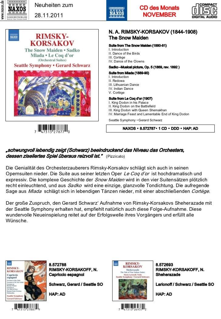 NAXOS Deutschland CD-Neuheiten Dezember 2011 Slide 3