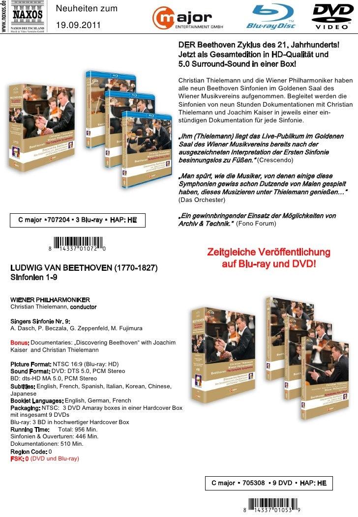 DVD-Neuheiten September 2011 (Im Vertrieb der NAXOS Deutschland GmbH) Slide 2