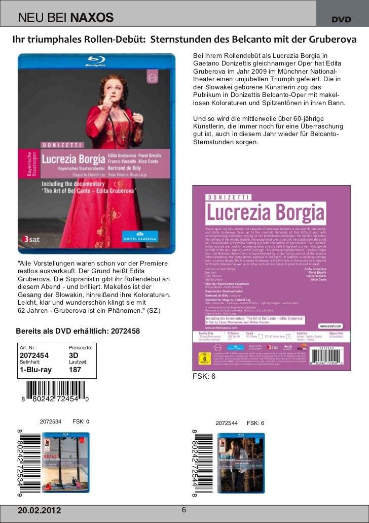 DVD                                                         Bei ihrem Rollendebüt als Lucrezia Borgia in                  ...
