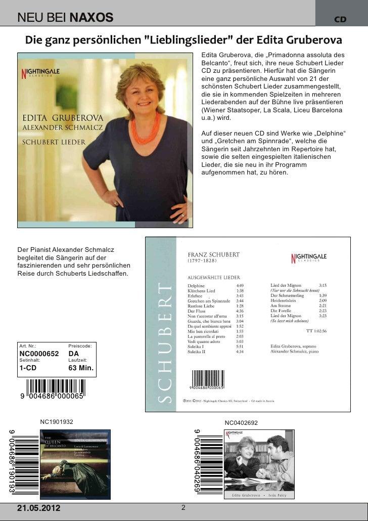 Blu-ray, DVD- und CD-Neuheiten Mai 2012 Nr. 3 (Im Vertrieb der NAXOS Deutschland GmbH) Slide 2