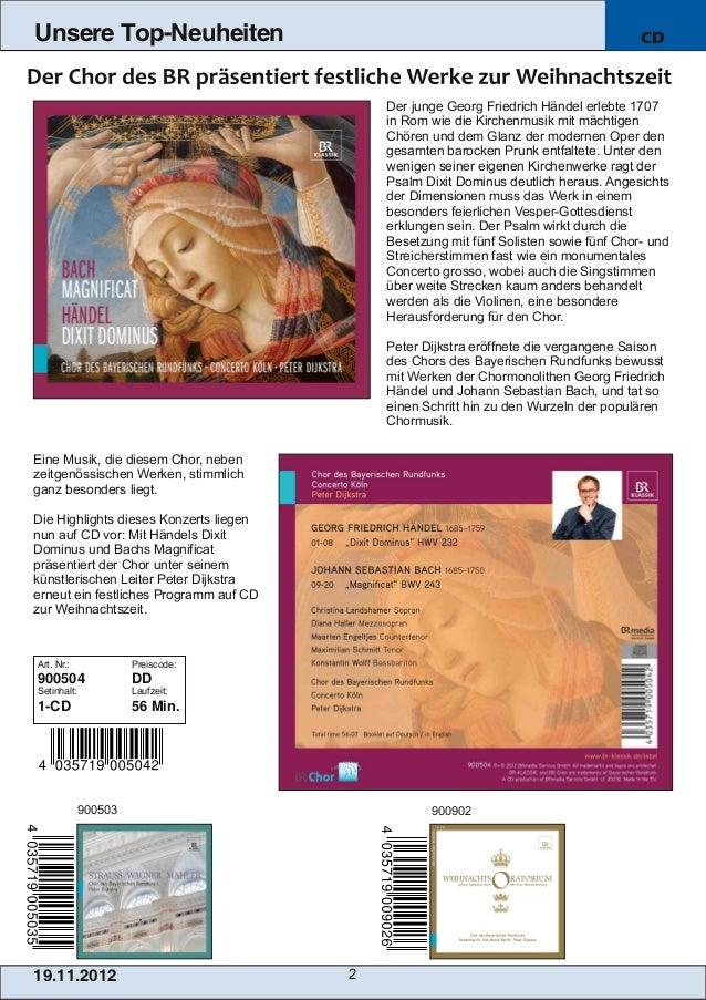 Blu-ray, DVD- und CD-Neuheiten November 2012 Nr. 3 (Im Vertrieb der NAXOS Deutschland GmbH) Slide 2