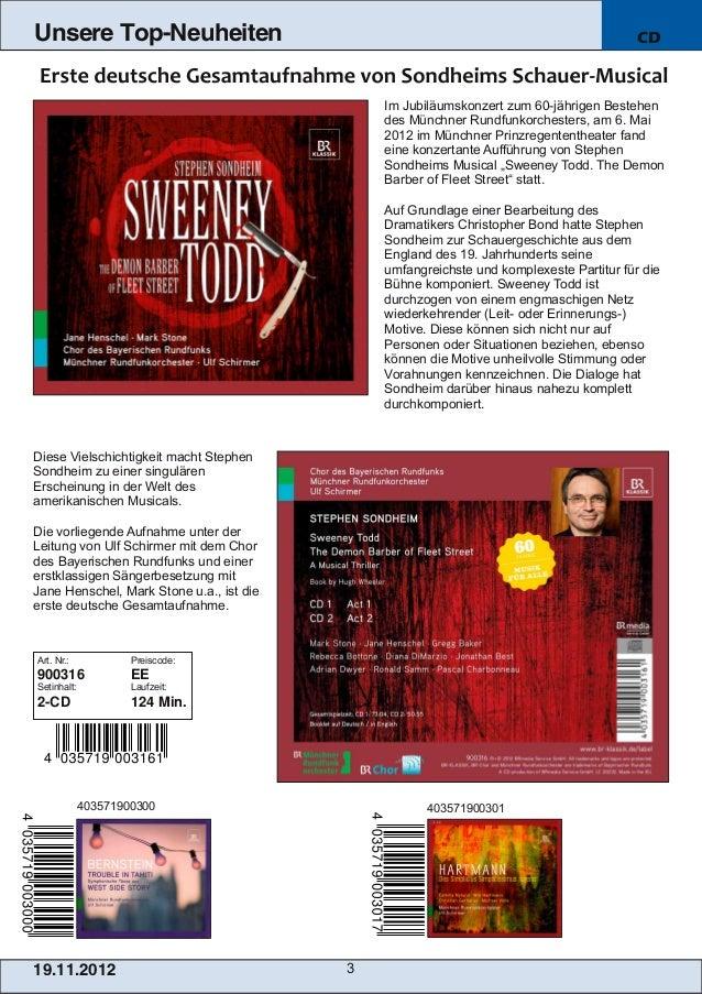 Blu-ray, DVD- und CD-Neuheiten November 2012 Nr. 3 (Im Vertrieb der NAXOS Deutschland GmbH) Slide 3