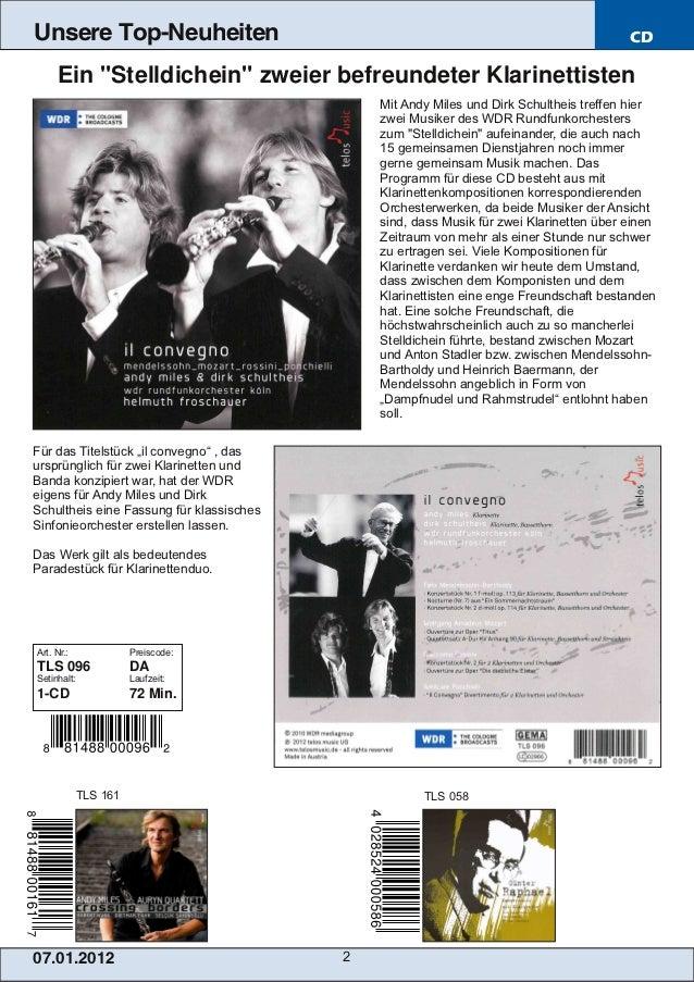 Blu-ray, DVD- und CD-Neuheiten Januar 2013 Nr. 1 (Im Vertrieb der NAXOS Deutschland GmbH) Slide 2