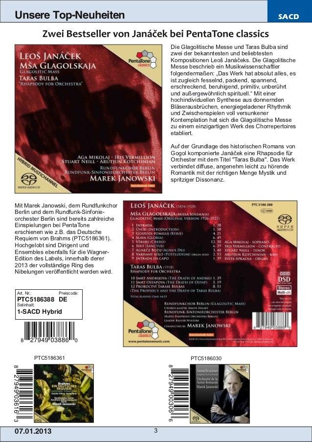 Blu-ray, DVD- und CD-Neuheiten Januar 2013 Nr. 1 (Im Vertrieb der NAXOS Deutschland GmbH) Slide 3