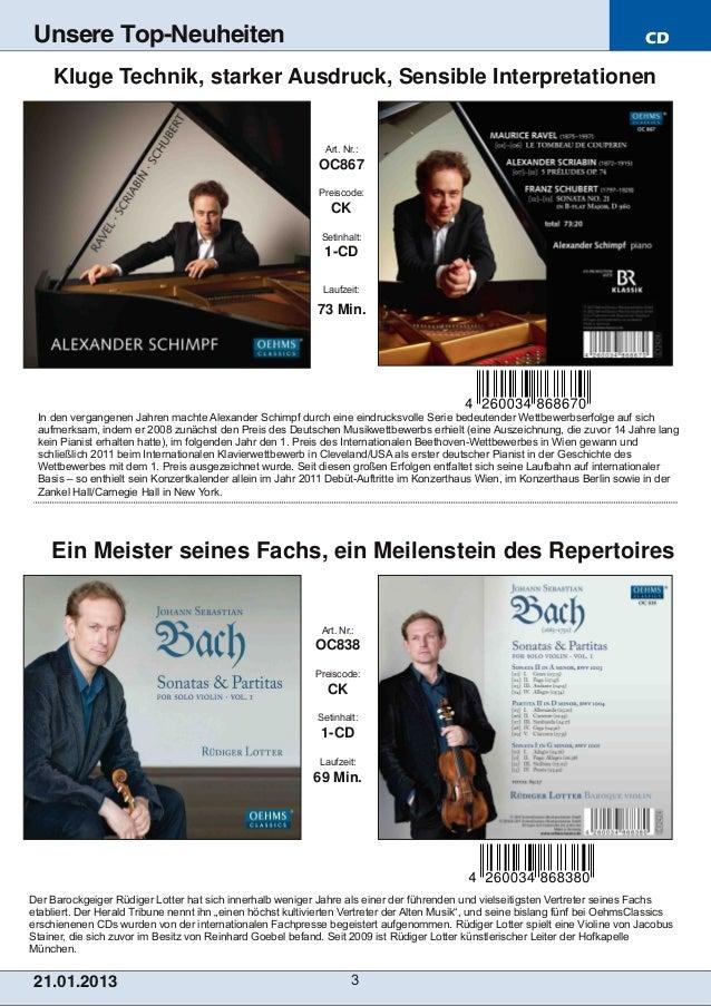 Blu-ray, DVD- und CD-Neuheiten Januar 2013 Nr. 3 (Im Vertrieb der NAXOS Deutschland GmbH) Slide 3