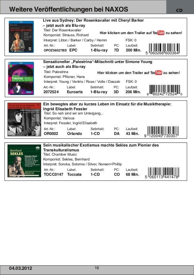 Weitere Veröffentlichungen bei NAXOS                                                          CD                Live aus S...