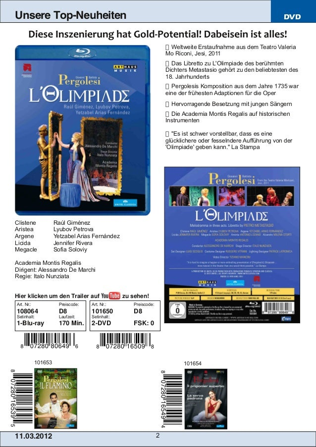 Blu-ray, DVD- und CD-Neuheiten März 2013 Nr. 2 (Im Vertrieb der NAXOS Deut… Slide 2