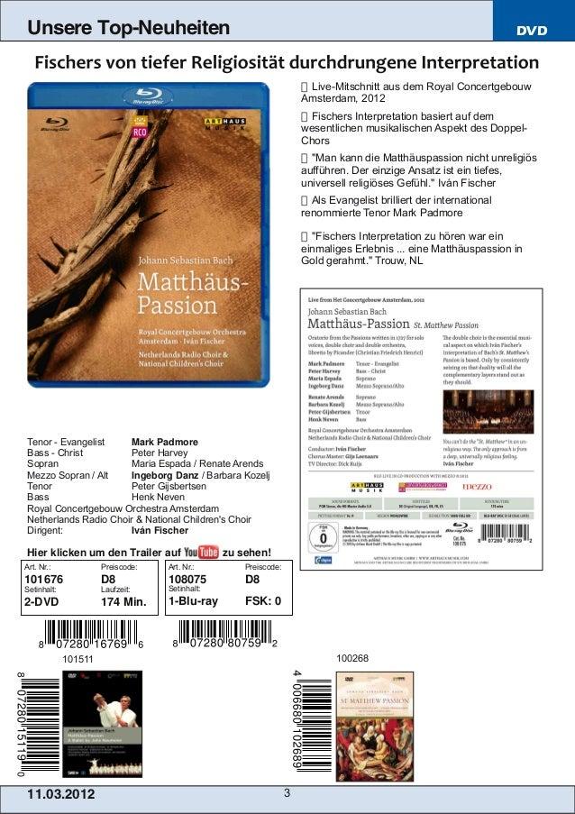 Blu-ray, DVD- und CD-Neuheiten März 2013 Nr. 2 (Im Vertrieb der NAXOS Deut… Slide 3