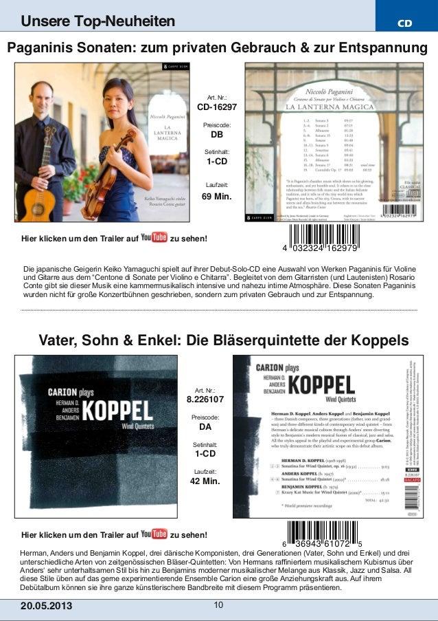 CD20.05.201 3 10Unsere Top-NeuheitenHerman, Anders und Benjamin Koppel, drei dänische Komponisten, drei Generationen (Vate...