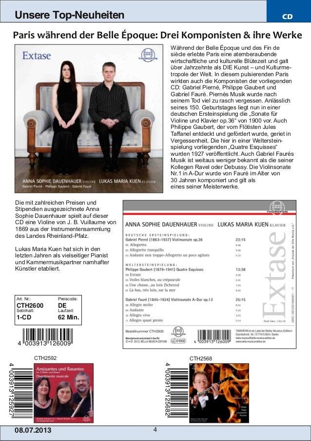 08.07.201 3 4 Unsere Top-Neuheiten CD Während der Belle Époque und des Fin de siècle erlebte Paris eine atemberaubende wir...