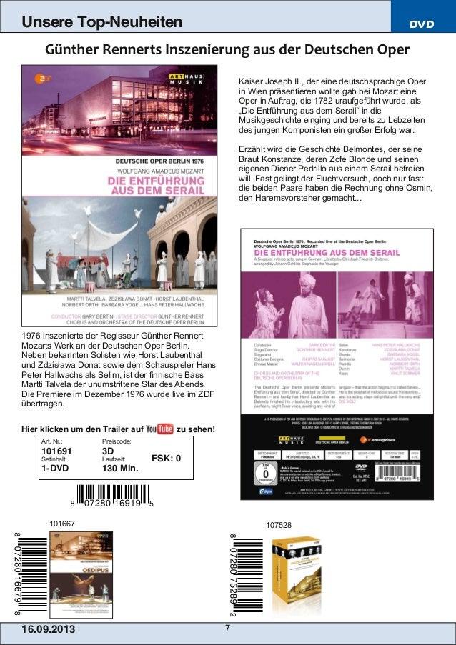 16.09.2013 7 Unsere Top-Neuheiten DVD Kaiser Joseph II., der eine deutschsprachige Oper in Wien präsentieren wollte gab be...