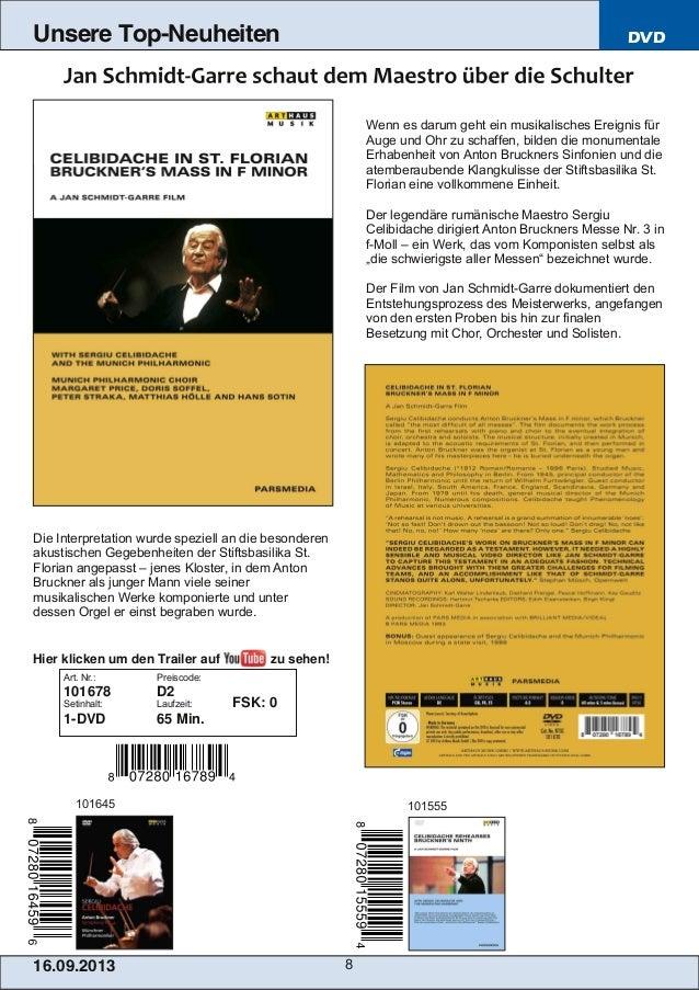 16.09.2013 8 Unsere Top-Neuheiten DVD Wenn es darum geht ein musikalisches Ereignis für Auge und Ohr zu schaffen, bilden d...