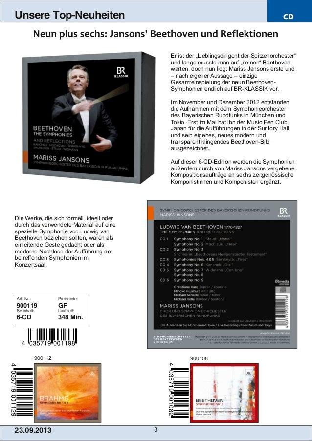 """23.09.2013 3 Unsere Top-Neuheiten CD Er ist der """"Lieblingsdirigent der Spitzenorchester"""" und lange musste man auf """"seinen""""..."""