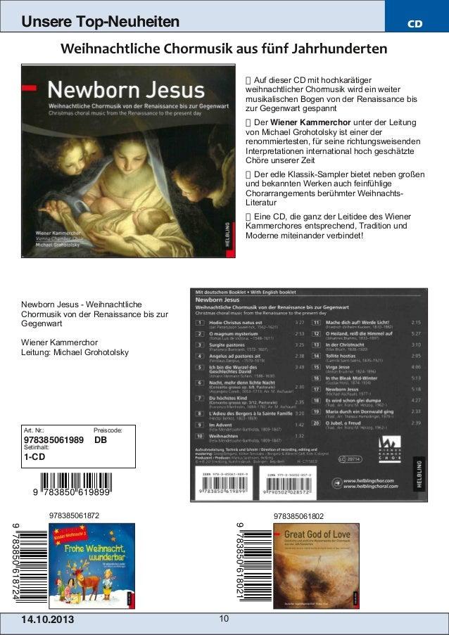Unsere Top-Neuheiten  CD   Auf dieser CD mit hochkarätiger weihnachtlicher Chormusik wird ein weiter musikalischen Bogen ...