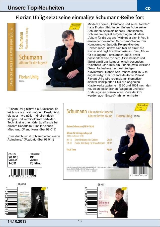 """Unsere Top-Neuheiten  CD  Mit dem Thema """"Schumann und seine Töchter"""" hatte Florian Uhlig in der fünften Folge seiner Schum..."""