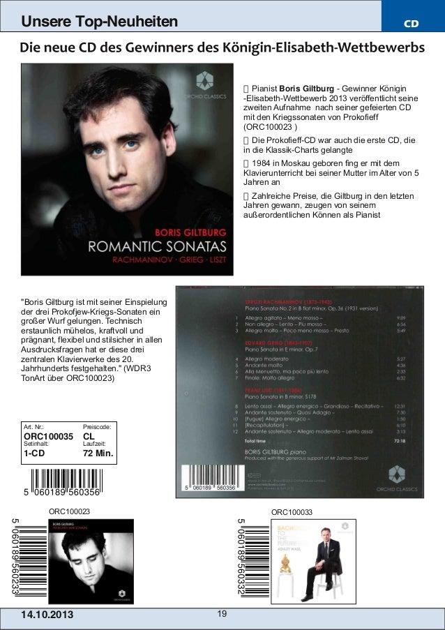 Unsere Top-Neuheiten  CD   Pianist Boris Giltburg  Gewinner Königin ElisabethWettbewerb 2013 veröffentlicht seine zwei...