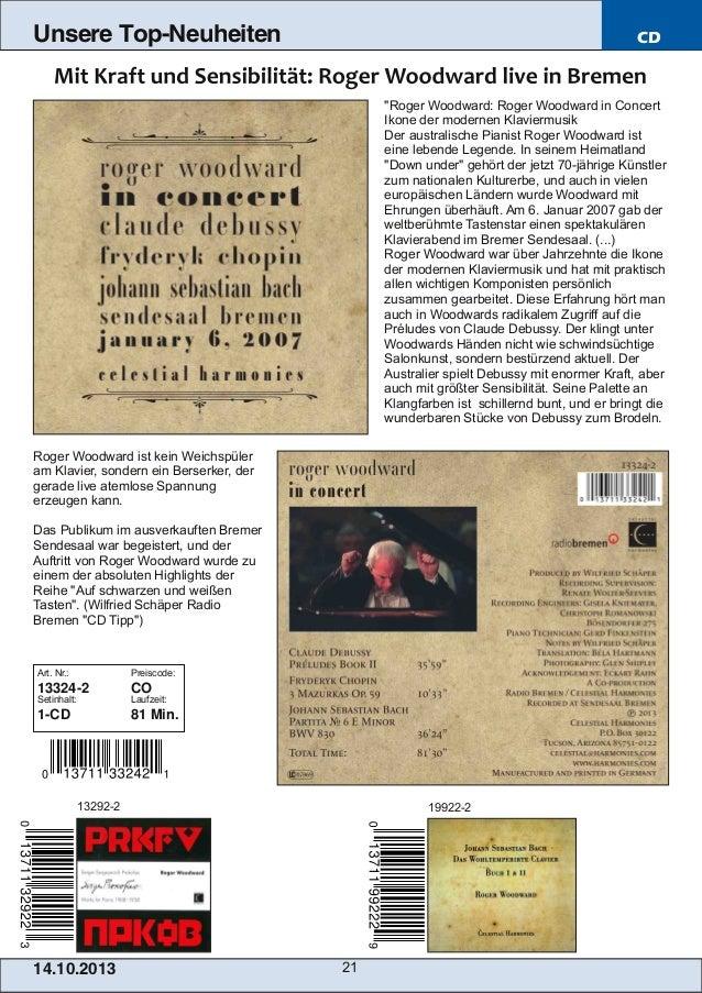 """Unsere Top-Neuheiten  CD  """"Roger Woodward: Roger Woodward in Concert Ikone der modernen Klaviermusik Der australische Pian..."""