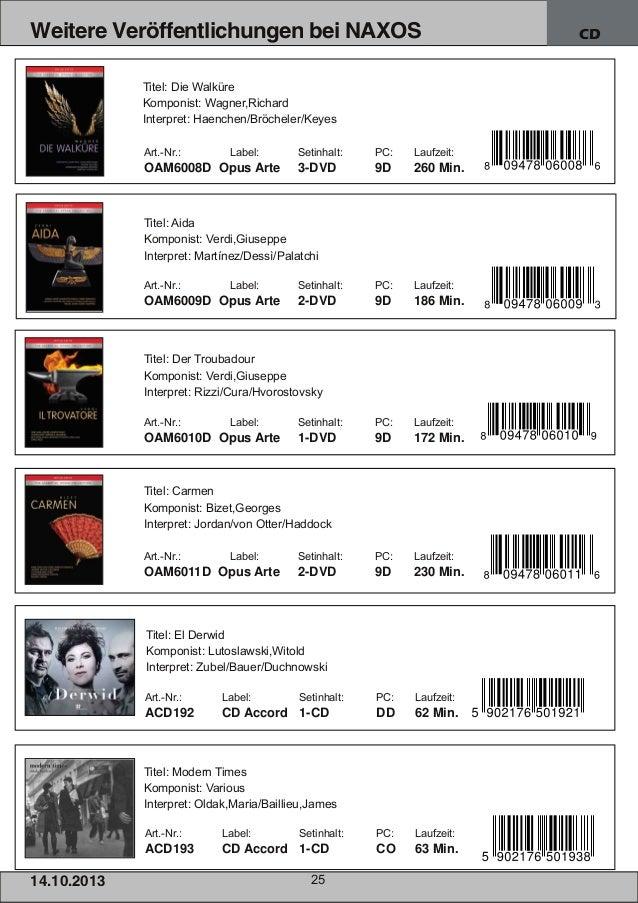 Weitere Veröffentlichungen bei NAXOS Titel: Die Walküre Komponist: Wagner,Richard Interpret: Haenchen/Bröcheler/Keyes Art....