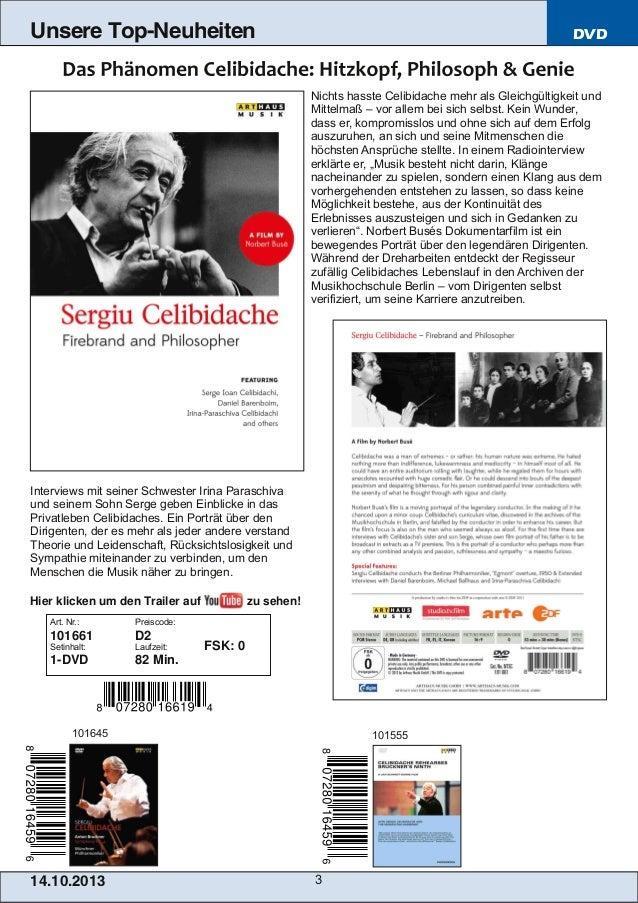 Unsere Top-Neuheiten  DVD  Nichts hasste Celibidache mehr als Gleichgültigkeit und Mittelmaß – vor allem bei sich selbst. ...