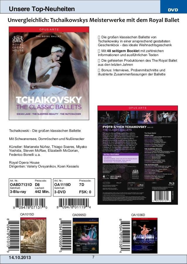 Unsere Top-Neuheiten  DVD   Die großen klassischen Ballette von Tschaikowsky in einer ansprechend gestalteten Geschenkbox...