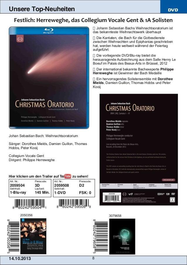 Unsere Top-Neuheiten  DVD   Johann Sebastian Bachs Weihnachtsoratorium ist das bekannteste Weihnachtswerk überhaupt  Die...
