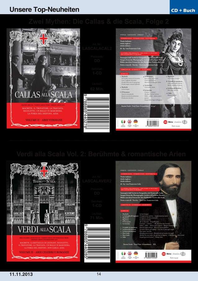 Unsere Top-Neuheiten  CD + Buch  Zwei Mythen: Die Callas & die Scala, Folge 2  Art. Nr.:  LASCALACAL2 Preiscode:  DD Setin...