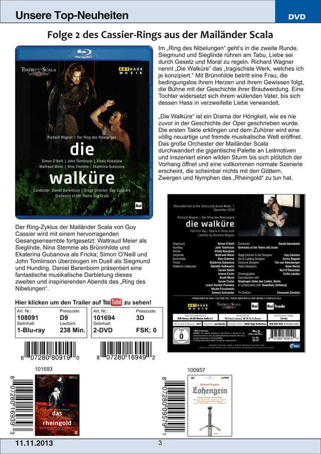 """Unsere Top-Neuheiten  DVD  Im """"Ring des Nibelungen"""" geht's in die zweite Runde. Siegmund und Sieglinde rühren am Tabu, Lie..."""