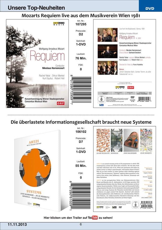 Unsere Top-Neuheiten  DVD Art. Nr.:  107295 Preiscode:  D2 Setinhalt:  1DVD Laufzeit:  76 Min. FSK:  0  Art. Nr.:  106102...