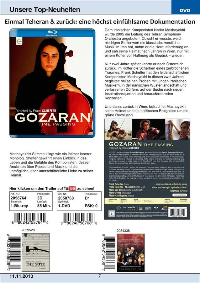 Unsere Top-Neuheiten  DVD  Dem iranischen Komponisten Nader Mashayekhi wurde 2005 die Leitung des Tehran Symphony Orchestr...