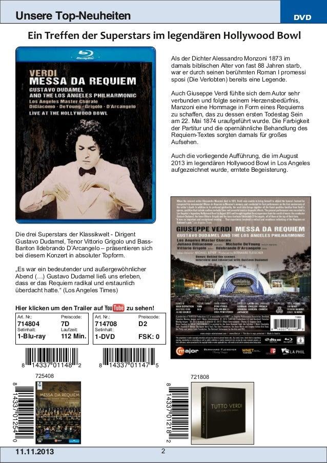 Blu-ray, DVD- und CD-Neuheiten November 2013 Nr. 2 (Im Vertrieb der NAXOS Deutschland GmbH) Slide 2