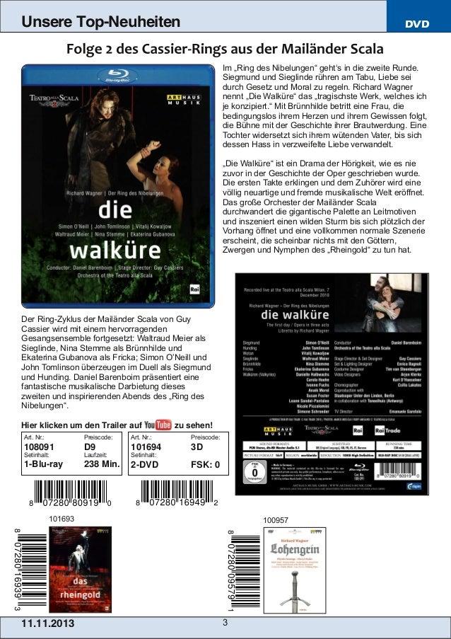 Blu-ray, DVD- und CD-Neuheiten November 2013 Nr. 2 (Im Vertrieb der NAXOS Deutschland GmbH) Slide 3