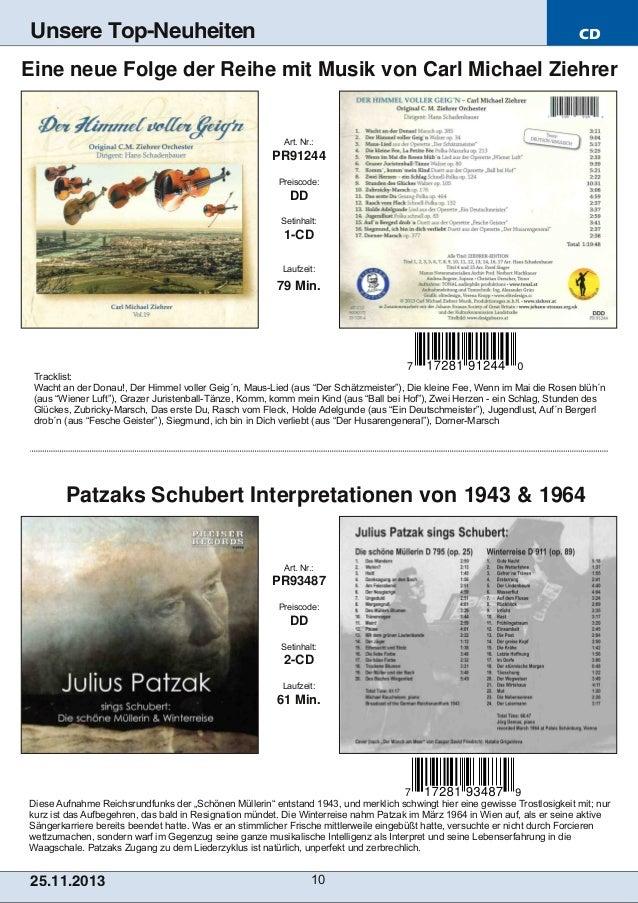 Unsere Top-Neuheiten  CD  Eine neue Folge der Reihe mit Musik von Carl Michael Ziehrer  Art. Nr.:  PR91244 Preiscode:  DD ...