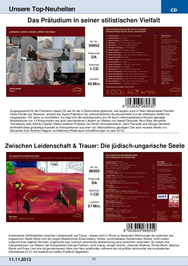 Unsere Top-Neuheiten  CD  Das Präludium in seiner stilistischen Vielfalt  Art. Nr.:  98953 Preiscode:  DA Setinhalt:  1CD...