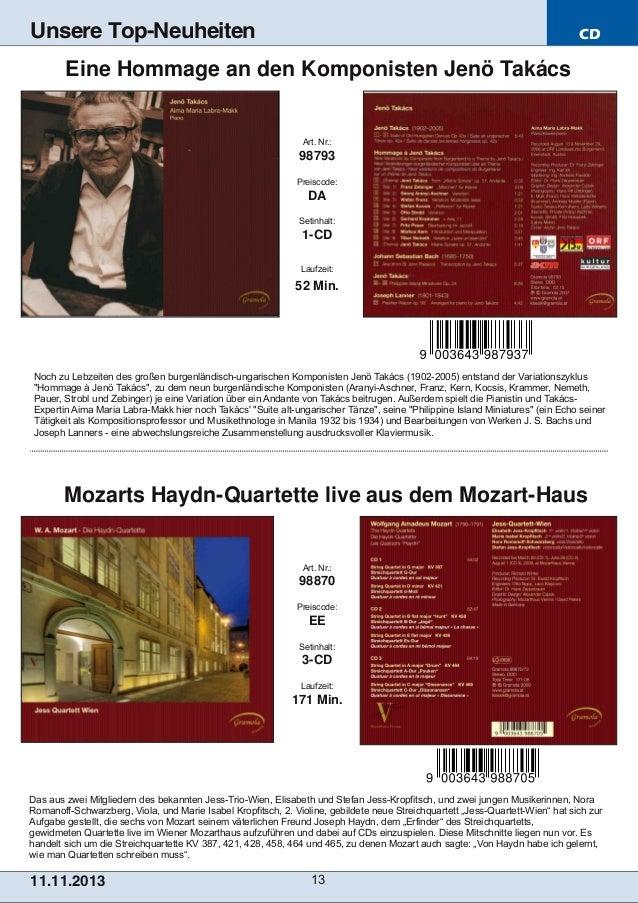 Unsere Top-Neuheiten  CD  Eine Hommage an den Komponisten Jenö Takács  Art. Nr.:  98793 Preiscode:  DA Setinhalt:  1CD La...