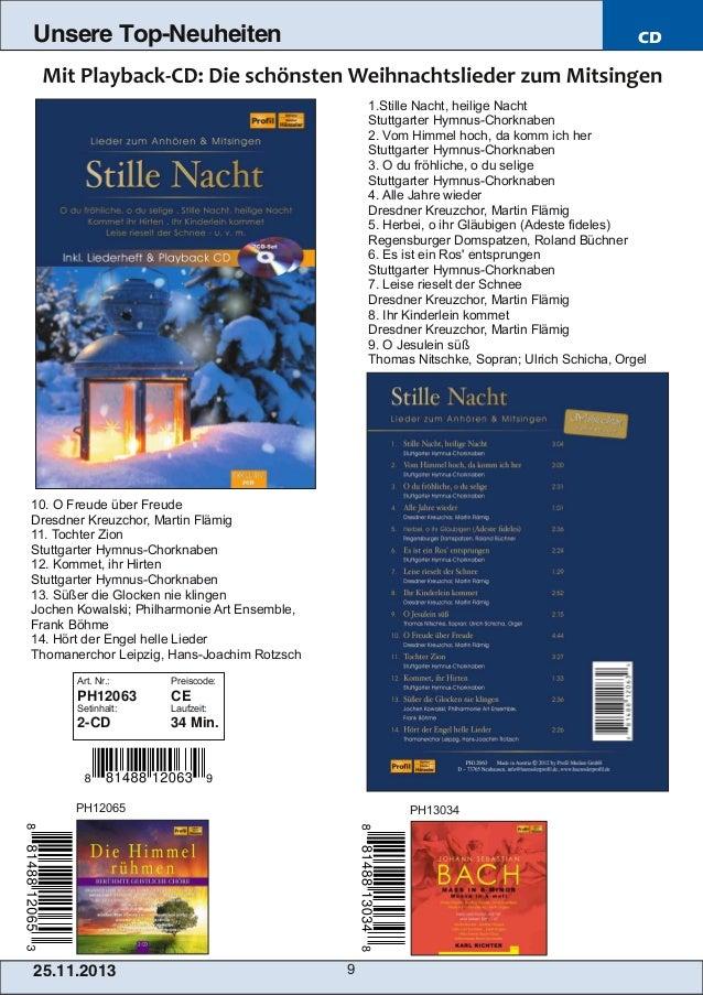 Unsere Top-Neuheiten  CD  1.Stille Nacht, heilige Nacht Stuttgarter HymnusChorknaben 2. Vom Himmel hoch, da komm ich her ...