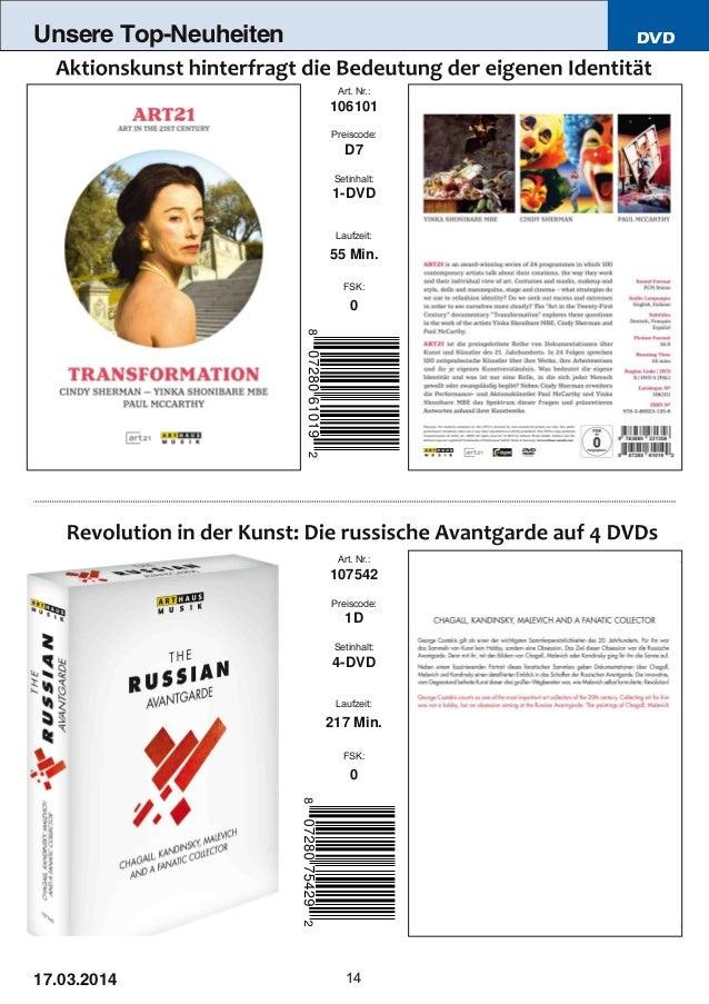 DVD 14 Unsere Top-Neuheiten Art. Nr.: 107542 Preiscode: 1D Setinhalt: 4DVD Laufzeit: 217 Min. FSK: 0 Art. Nr.: 106101 Pre...