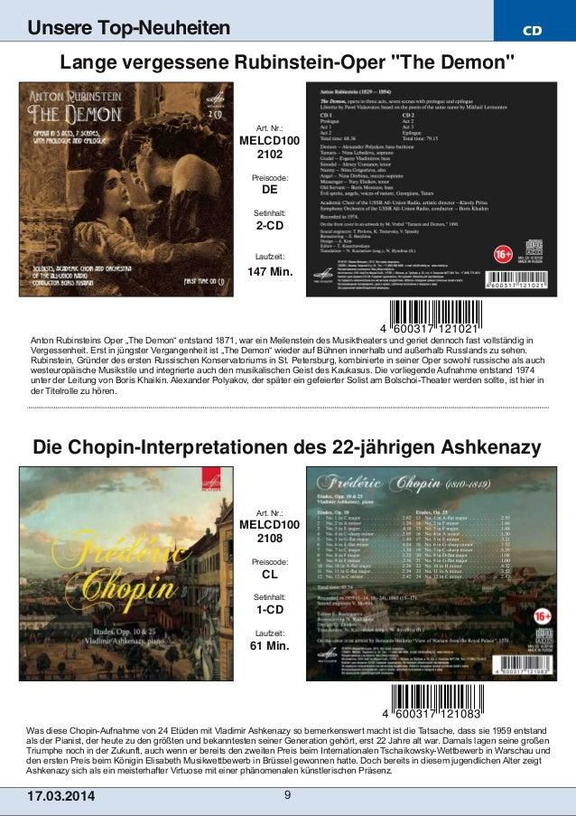 CD 17.03.2014 9 Unsere Top-Neuheiten Was diese ChopinAufnahme von 24 Etüden mit Vladimir Ashkenazy so bemerkenswert macht...