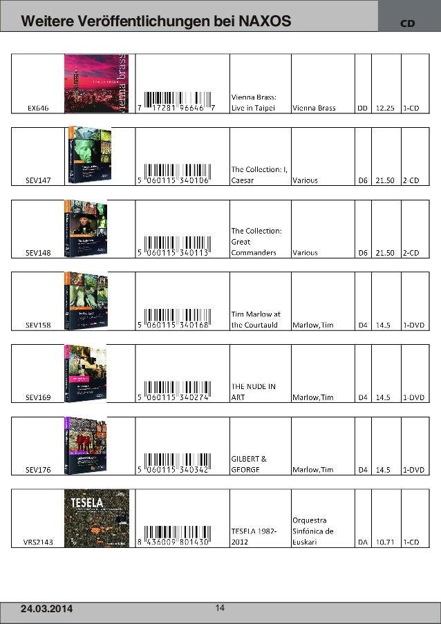 24.03.2014 14 Weitere Veröffentlichungen bei NAXOS CD