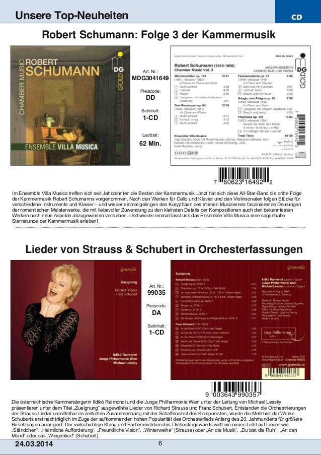 CD 24.03.2014 6 Unsere Top-Neuheiten Die österreichische Kammersängerin Ildikó Raimondi und die Junge Philharmonie Wien un...