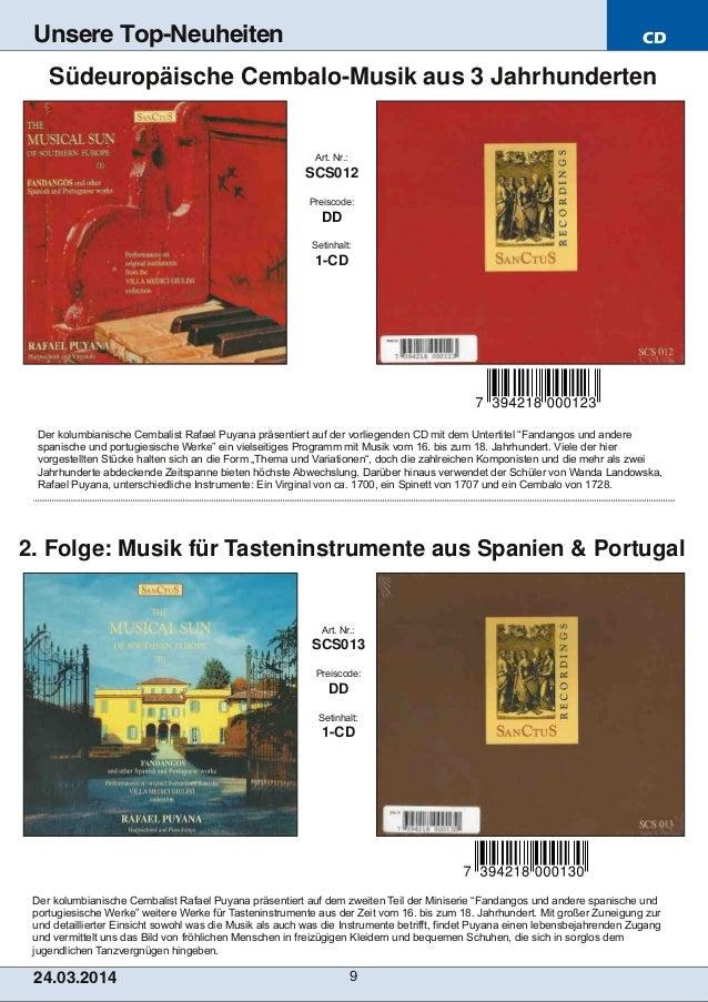 CD 24.03.2014 9 Unsere Top-Neuheiten Der kolumbianische Cembalist Rafael Puyana präsentiert auf dem zweiten Teil der Minis...