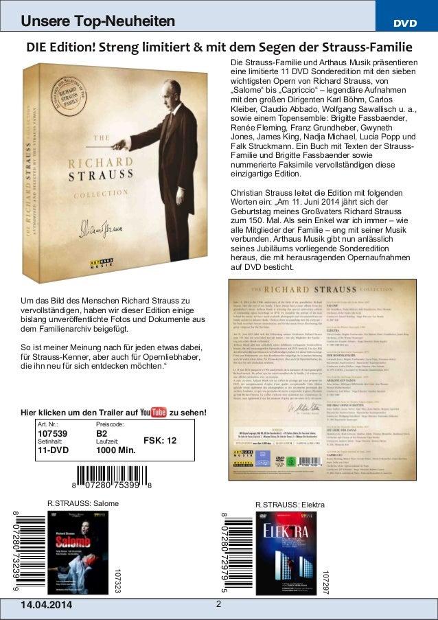 Blu-ray, DVD- und CD-Neuheiten April Nr. 2 (Im Vertrieb der NAXOS Deutschland GmbH) Slide 2
