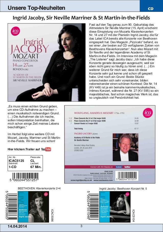 Blu-ray, DVD- und CD-Neuheiten April Nr. 2 (Im Vertrieb der NAXOS Deutschland GmbH) Slide 3