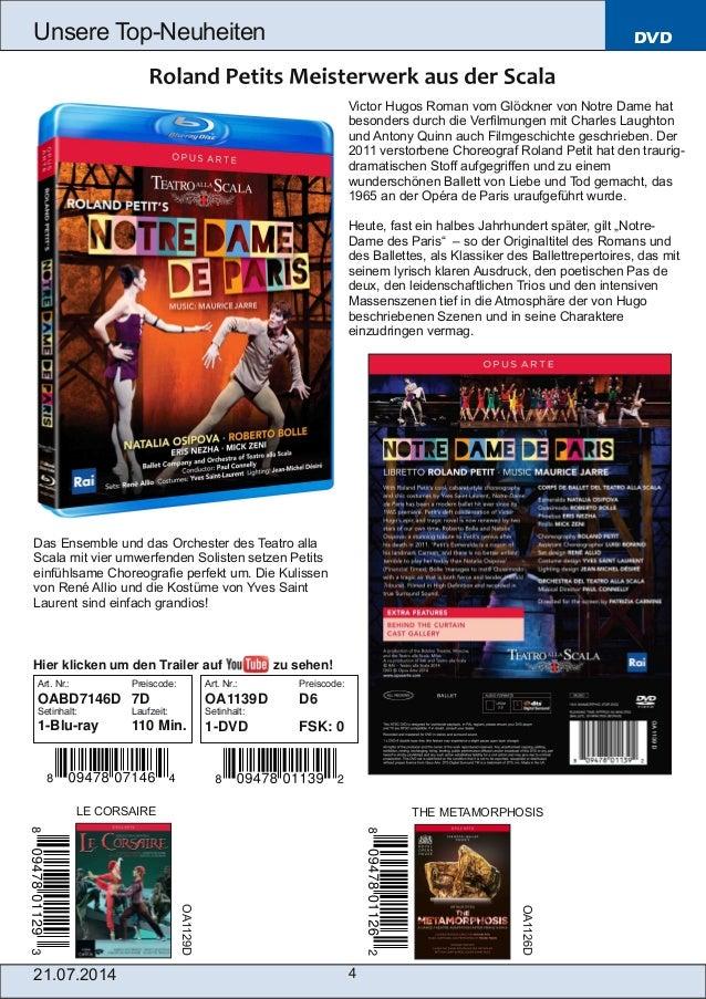 21.07.2014 4 Unsere TopNeuheiten DVD Victor Hugos Roman vom Glöckner von Notre Dame hat besonders durch die Verfilmungen ...