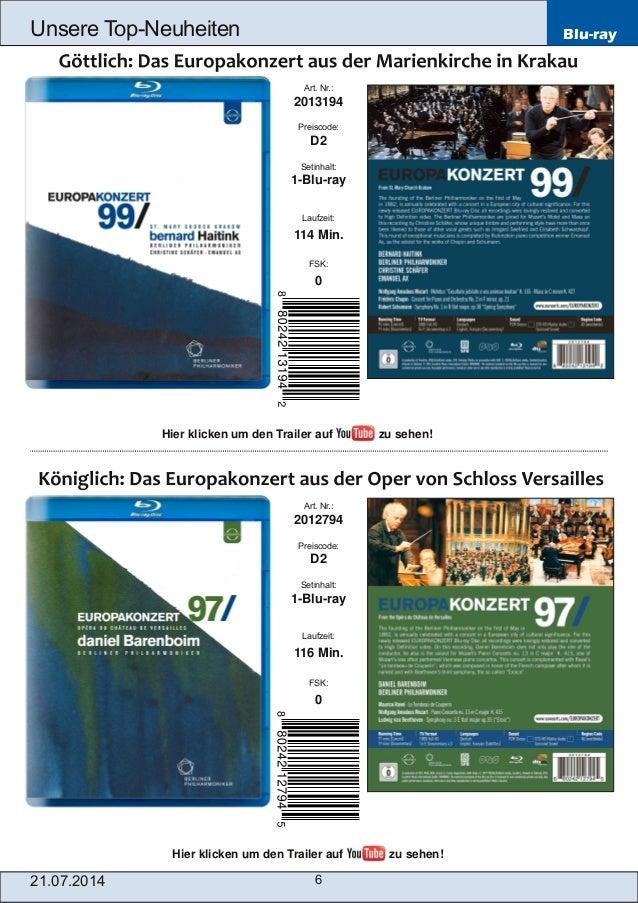 Blu-ray 21.07.2014 6 Unsere TopNeuheiten Art. Nr.: 2012794 Preiscode: D2 Setinhalt: 1Bluray Laufzeit: 116 Min. FSK: 0 A...