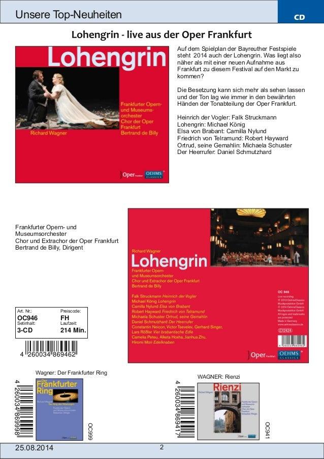 Blu-ray, DVD- und CD-Neuheiten August Nr. 4 (Im Vertrieb der NAXOS Deutschland GmbH) Slide 2