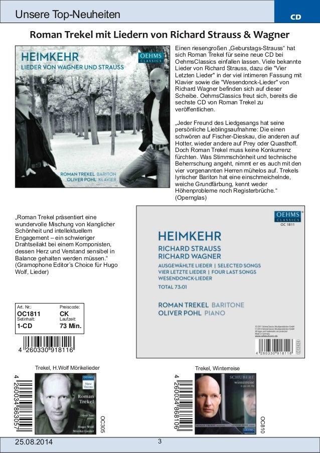 Blu-ray, DVD- und CD-Neuheiten August Nr. 4 (Im Vertrieb der NAXOS Deutschland GmbH) Slide 3