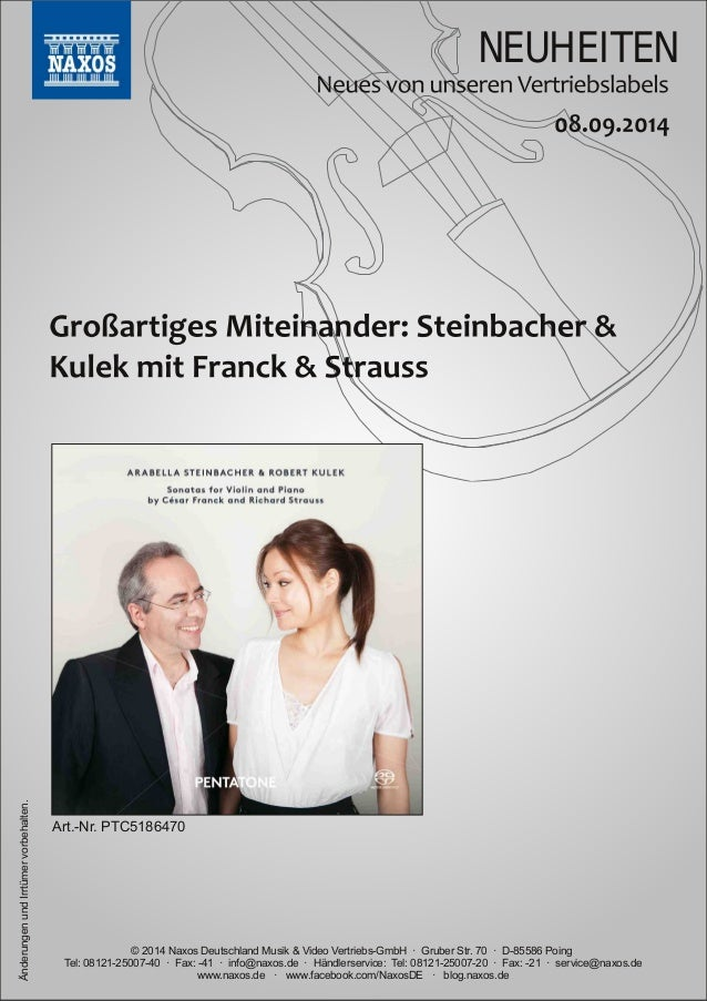 NEUHEITEN  vorbehalten.  Art.Nr.  PTC5186470  Irrtümer und Änderungen www.naxos.de · www.facebook.com/NaxosDE · blog.naxo...